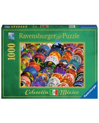 Puzzle Ravensburger - Colorful Plates, 1.000 piese (19841)
