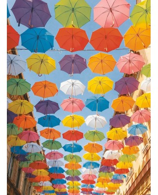 Puzzle Ravensburger - Colorful Umbrellas, 500 piese (14765)