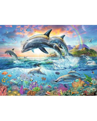 Puzzle Ravensburger - Coloring Booklet - Colorful Underwater World, 100 piese XXL (13697)