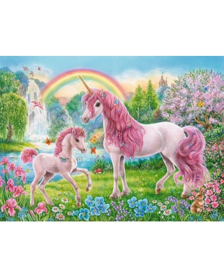 Puzzle Ravensburger - Coloring Booklet - Magical Unicorns, 100 piese XXL (13698)
