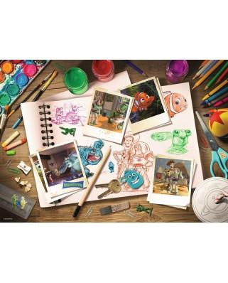 Puzzle Ravensburger - Disney Pixar - Sketches, 1.000 piese (19603)
