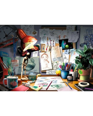 Puzzle Ravensburger - Disney Pixar - The Artist's Desk, 1.000 piese (19432)