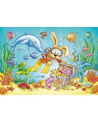 Puzzle Ravensburger - Diving, 2x12 piese (07603)