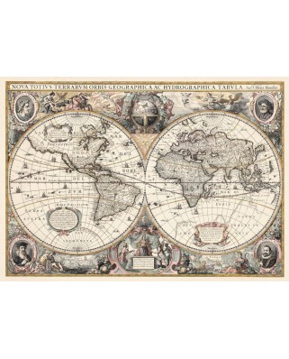 Puzzle Ravensburger - Do it Yourself - Antique World Map, 1200 piese (19931)