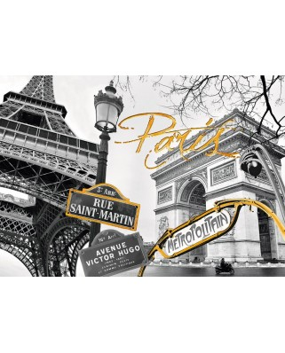 Puzzle Ravensburger - Do it Yourself - Golden Paris, 1200 piese (19935)