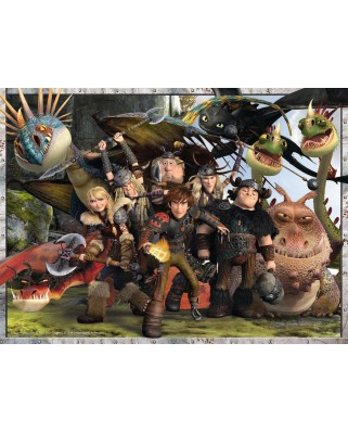 Puzzle Ravensburger - Dragons - True Friends, 300 piese XXL (13198)