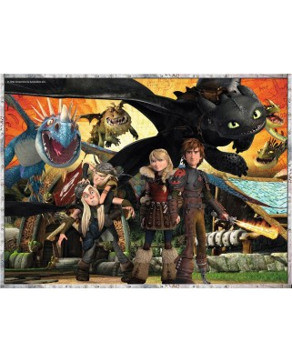 Puzzle Ravensburger - Dragons, 100 piese XXL (10918)
