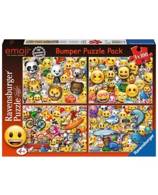 Puzzle Ravensburger - Emoji, 4x100 piese (06967)