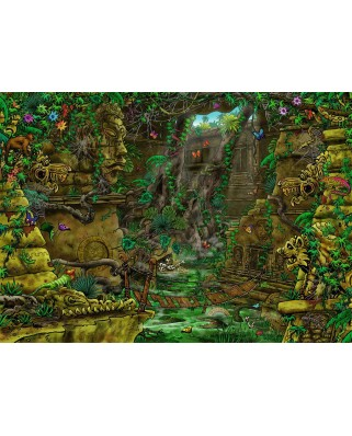 Puzzle Ravensburger - Exit Puzzle - Ankor Wat (in French), 759 piese (19957)
