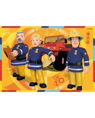 Puzzle Ravensburger - Fireman Sam, 2x12 piese (07584)