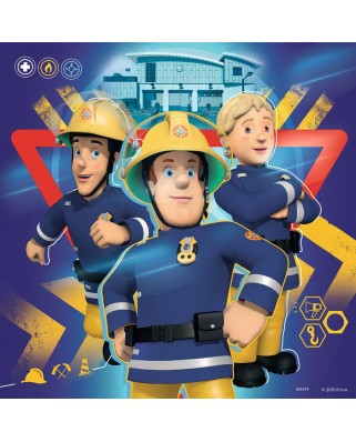 Puzzle Ravensburger - Fireman Sam, 3x49 piese (09386)