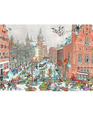 Puzzle Ravensburger - Fleroux - Amsterdam in Winter, 1.000 piese (19789)