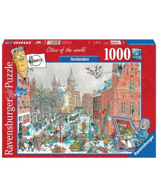 Puzzle Ravensburger - Fleroux - Amsterdam, 1.000 piese (19786)