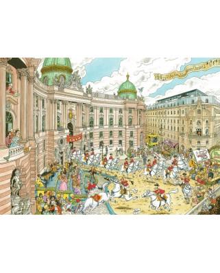 Puzzle Ravensburger - Fleroux - Vienna, 1.000 piese (19788)