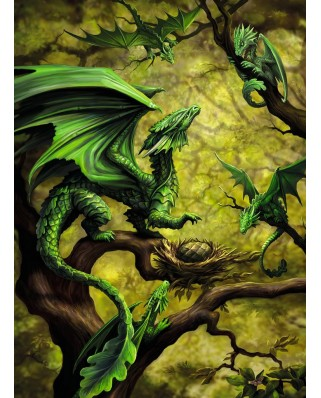Puzzle Ravensburger - Forest Dragon By Anne Stokes, 500 piese (14789)