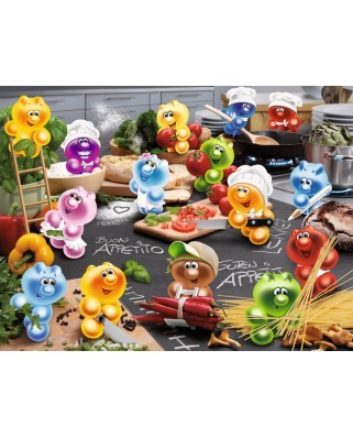 Puzzle Ravensburger - Gelini: Kitchen Rush, 2.000 piese (16608)