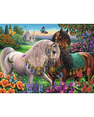 Puzzle Ravensburger - Glittering Horse Couple, 500 piese, strălucitor (14911)