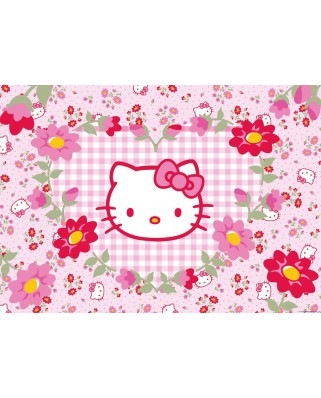 Puzzle Ravensburger - Hello Kitty and Flowers, 24 piese XXL (05262)