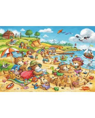 Puzzle Ravensburger - Holidays at the Sea, 2x24 piese (07829)
