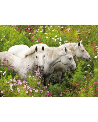 Puzzle Ravensburger - Horses on the Flower Meadow, 300 piese XXL (13218)