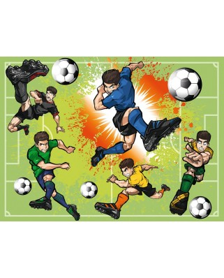 Puzzle Ravensburger - In Football Fever, 100 piese XXL (10693)