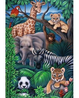 Puzzle Ravensburger - Jungle animals, 35 piese (08601)