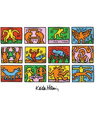 Puzzle Ravensburger - Keith Haring: Retrospective, 1.000 piese (15615)