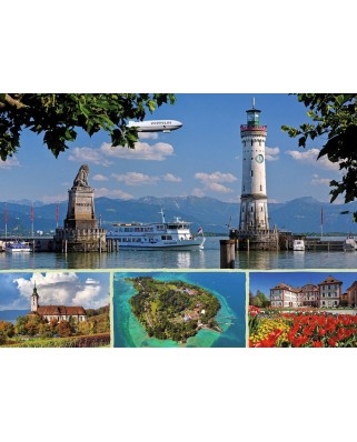 Puzzle Ravensburger - Lake Constance, Germany, 1.000 piese (19460)