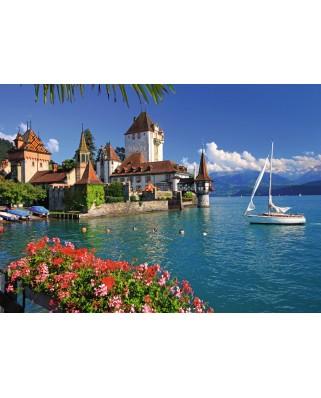 Puzzle Ravensburger - Lake Thun, Bern, 1.000 piese (19139)
