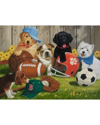 Puzzle Ravensburger - Let's Play Ball!, 200 piese XXL (12806)