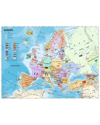 Puzzle Ravensburger - Map of Europe in French, 200 piese XXL (12841)