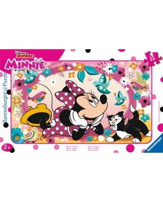 Puzzle Ravensburger - Minnie and Figaro, 15 piese (06158)