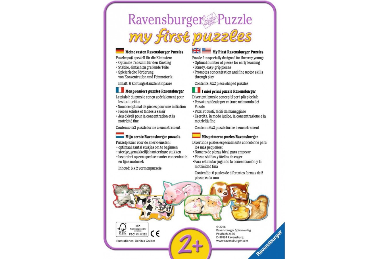 Puzzle Ravensburger - My favorite Jobs, 5x2 piese (07367)