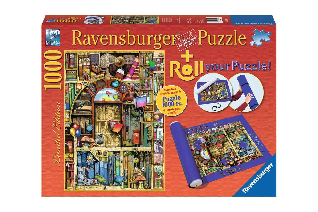 Puzzle Ravensburger - Colin Thompson: Librarie Bizara, 1.000 piese (19909)