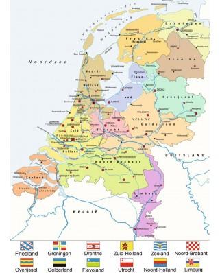 Puzzle Ravensburger - Netherlands, 100 piese (10998)