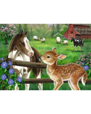 Puzzle Ravensburger - New Neighbors, 60 piese (09625)
