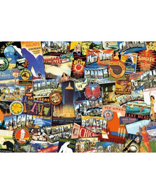 Puzzle Ravensburger - On the Road !, 1.000 piese (19212)