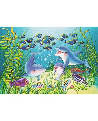 Puzzle Ravensburger - On the Seabed, 2x12 piese (07625)