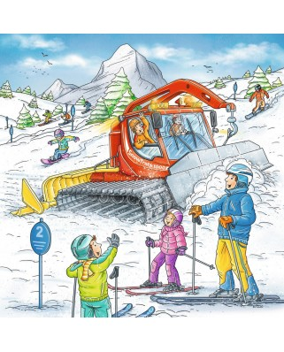 Puzzle Ravensburger - On the Ski Slope, 3x49 piese (08052)
