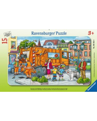 Puzzle Ravensburger - On the Way to the Garbage Disposal, 15 piese (06162)