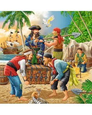 Puzzle Ravensburger - Pirates, 3x49 piese (08030)
