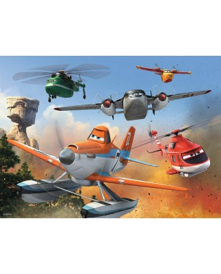 Puzzle Ravensburger - Planes - Fighting The Fire, 100 piese XXL (10537)