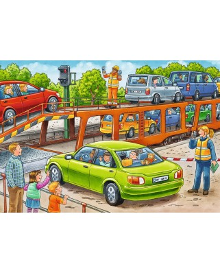 Puzzle Ravensburger - Please get in!, 2x12 piese (07611)