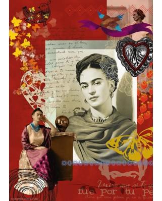 Puzzle Ravensburger - Portrait of Frida Kahlo, 1.000 piese (15412)