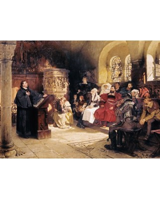 Puzzle Ravensburger - Preaching On The Wartburg, 300 piese (13953)