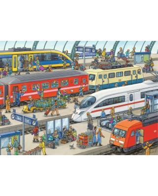 Puzzle Ravensburger - Railway Station, 60 piese (09610)