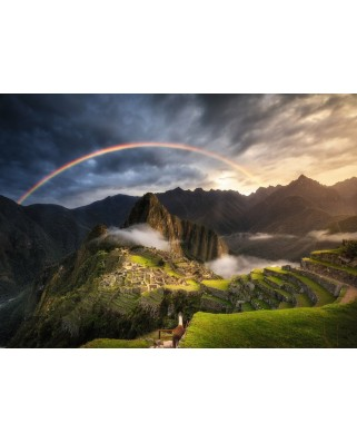 Puzzle Ravensburger - Rainbow on Machu Picchu, Peru, 1.000 piese (15158)
