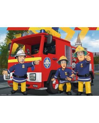 Puzzle Ravensburger - Sam Fireman, 2x24 piese (09042)