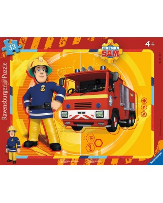 Puzzle Ravensburger - Sam the Fireman, 35 piese (06132)