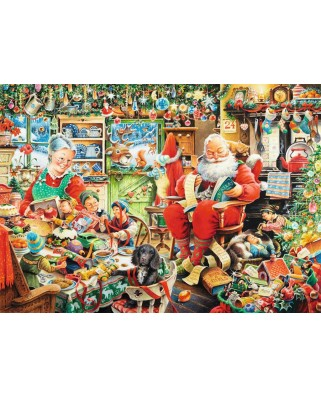 Puzzle Ravensburger - Santa's Final Preparations, 1.000 piese (19558)